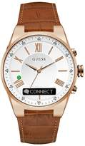 GUESS Connect Rose Gold-Tone and Brown Smartwatch