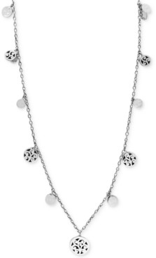 Lois Hill Filigree Disc Long Statement Necklace in Sterling Silver