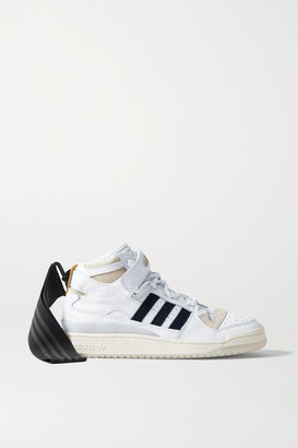 adidas Ivy Park Forum Mid Leather And Suede High-top Sneakers - White