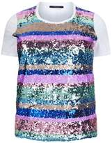 Marina Rinaldi Sequin Stripe T-Shirt