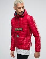 Napapijri Rainbow Padded Jacket In Old Red