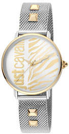 Just Cavalli Animal Watch w/ Mesh Strap, Two-Tone