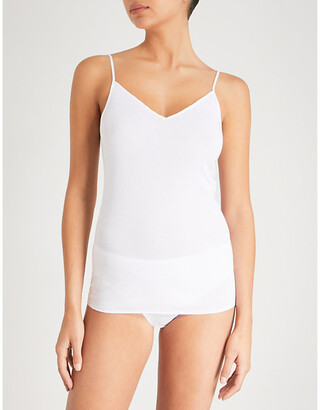 Hanro Women's Black Seamless Cotton Camisole, Size: L