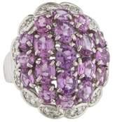 Ring Platinum Diamond & Pink Sapphire