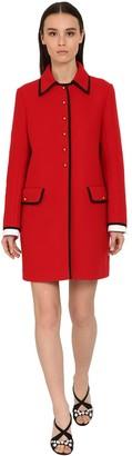Miu Miu Virgin Wool Tricot Coat