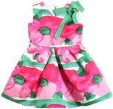 Flowers Printed Duchesse Dress