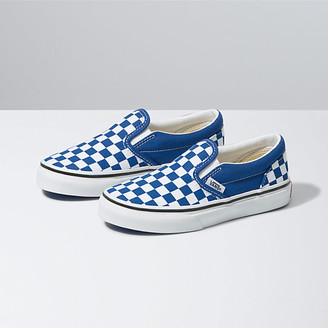Vans Kids Checkerboard Classic Slip-On