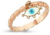 Selda Jewellery Evil Eye Ring White & Blue Enamel
