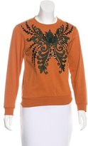 Dries Van Noten Embellished Crew Neck Sweatshirt