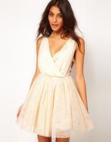 Asos Party Dress with Velvet Trim