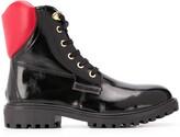 Love Moschino 3D heart detail combat boots