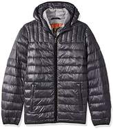 Tommy Hilfiger Men's Big Ultra Loft Insulated Packable Jacket With Contrast Bib and Hood