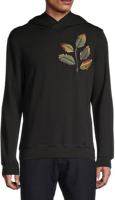 Antony Morato Leaf Embroidery Fleece Hoodie