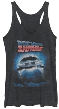 Fifth Sun Back To The Future Flying Car Portal Tri-Blend Racer Back Tank