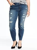 Old Navy Smooth & Slim High-Rise Plus-Size Distressed Rockstar Jeans