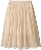 Stella McCartney Amalie Long Flowy Skirt w/ Gold Polka Dots Girl's Skirt