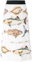 Dolce & Gabbana fish print skirt - women - Silk/Spandex/Elastane/Viscose - 42