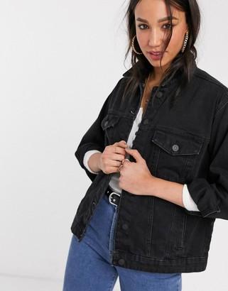 Only denim jacket in black