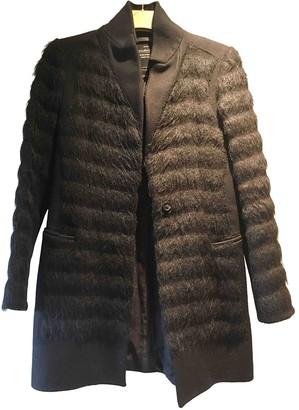 AllSaints Black Faux fur Coat for Women