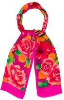Oscar de la Renta Lightweight Floral Print Scarf