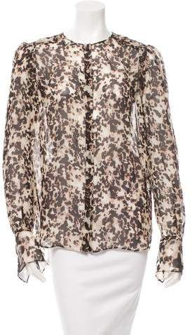 Givenchy Silk Printed Top w/ Tags