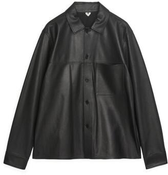 Arket Leather Overshirt