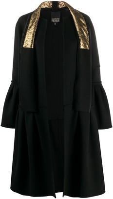 Gianfranco Ferré Pre-Owned Ruffled Details Knee-Length Coat
