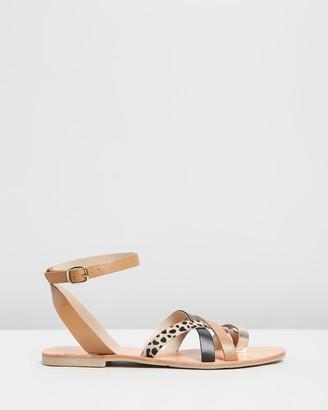 Nude Luisa Leather Sandals