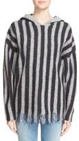 Alexander Wang Fringe Stripe Hoodie