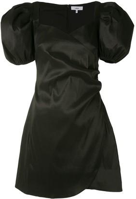 LIKELY Puff-Sleeve Satin Mini-Dress