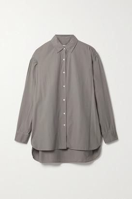 Nili Lotan Yorke Cotton Shirt - Gray