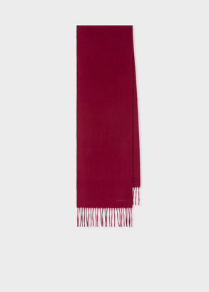Paul Smith Burgundy Cashmere Scarf