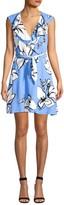 Parker Sahara Floral Tie-Waist A-Line Dress
