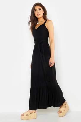 boohoo Belted Frill Hem Maxi Dress