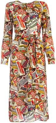 DSQUARED2 Printed Midi Dress