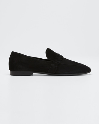 Aquatalia Carlee Suede Slip-On Loafers