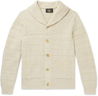 Ralph Lauren RRL Slim-Fit Shawl-Collar Cotton And Silk-Blend Cardigan