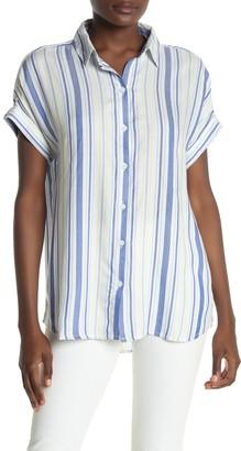 BeachLunchLounge Spencer Striped Short Sleeve Camp Shirt