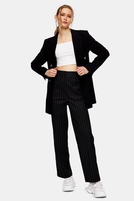 Topshop Womens Black Stretch Trousers - Black