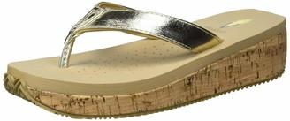 Volatile Women's Clarie Metallic Thong Sandal