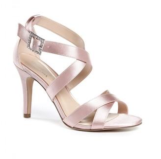 Paradox London Macpherson High Heel Blush Strappy Sandals