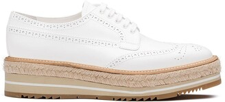 Prada Lace-Up Platform Brogues