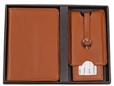 Cathy's Concepts Monogram Passport Case & Luggage Tag - Brown