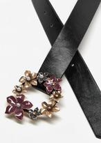 MANGO Flowers buckle belt