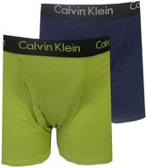 Calvin Klein Boys Solid Navy And Lime 2 Pack boxer briefs for boys (6/7)