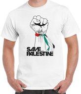 StarlightClothing Starlite Mens Novelty tshirtsFree Palestineave Palestine-Ribbon tshirt