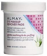 Almay Eye Makeup Remover Pads, Gentle, Soothing & De-Puffing 80 Pads by