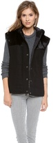 Tibi Quilted Haircalf Vest