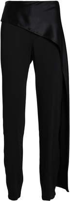 Mason by Michelle Mason Satin Draped Crepe Trousers