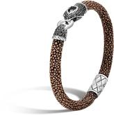 John Hardy Cobra Station Bracelet with Black Sapphire